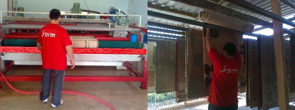 Batıkent'de halı yıkama işlemleri